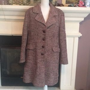 Preston & York berry tweed winter great coat💕